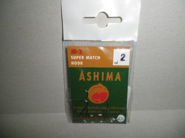 Ashima M-2 Super Match Hook s Lopatkou Velikost 2
