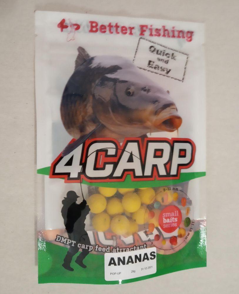 4Carp pop up Boilies 12 mm Ananas