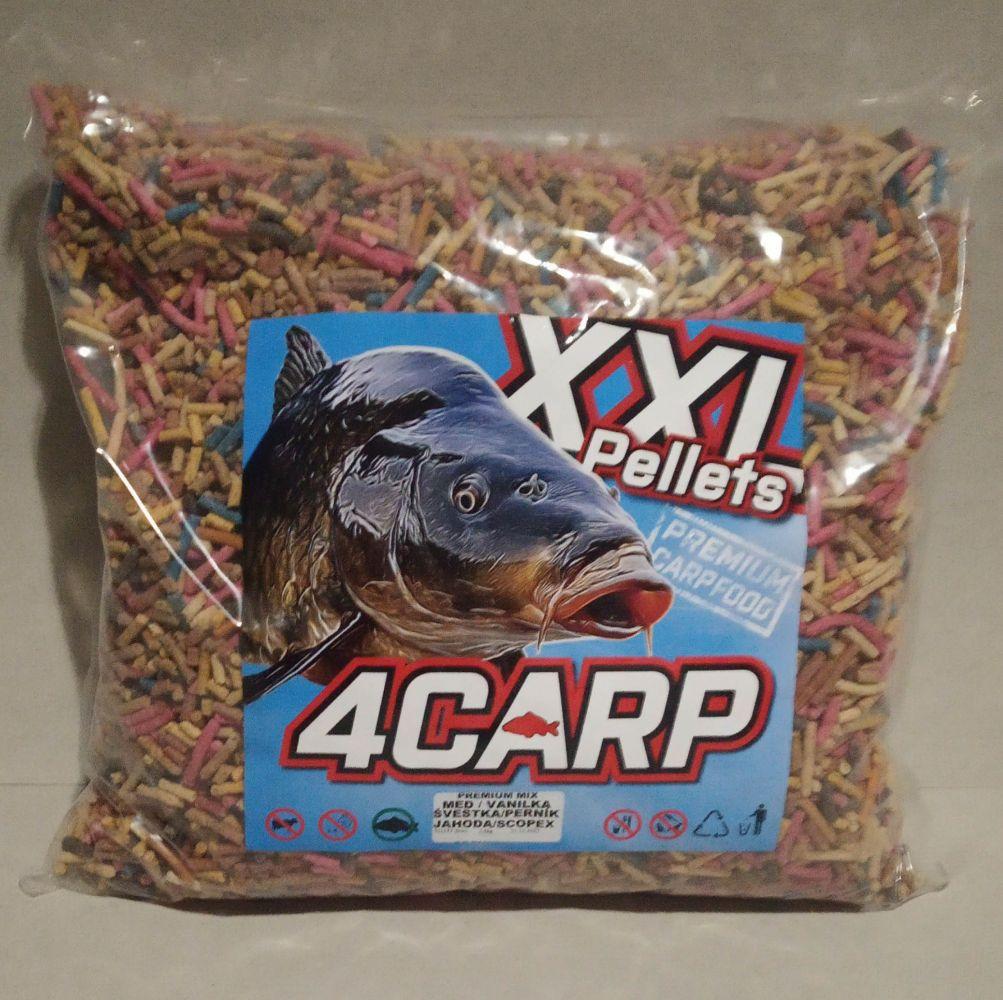 4Carp Micro Peletky 3mm 2,5kg Med,Vanilka,Šveska,Perník,Jahoda,Scopex