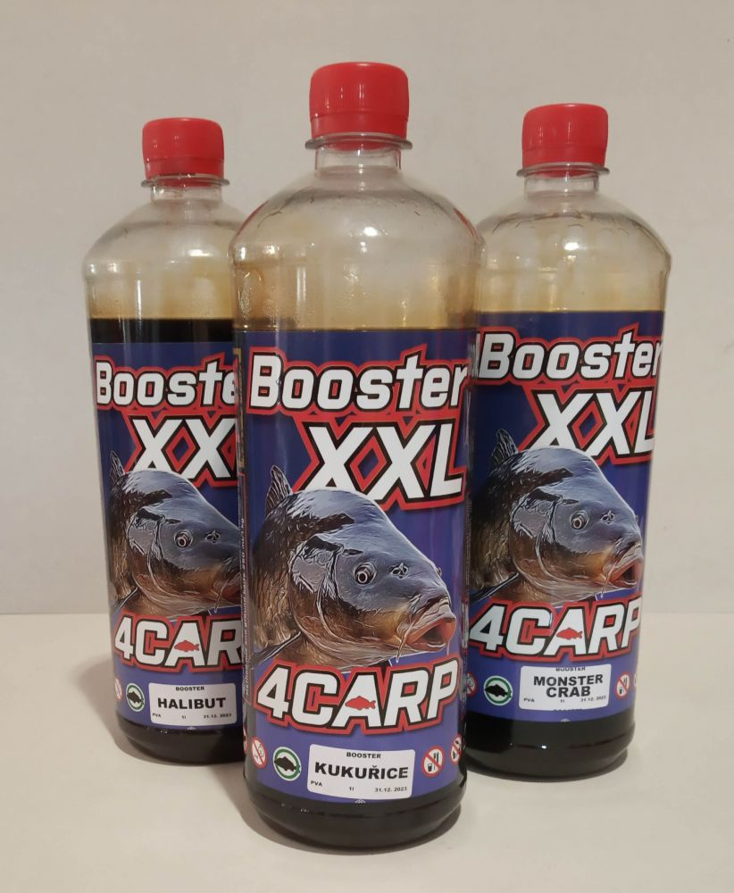 4 Carp Booster XXL 1L Mušle