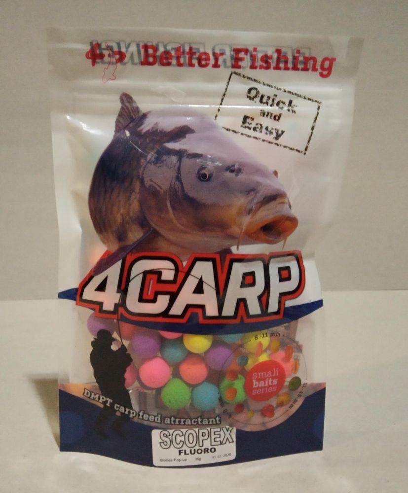4Carp Fluoro pop up boilies 30g 20mm