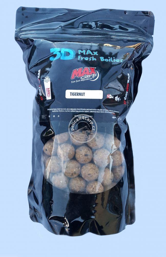 Maxcarp Fresh Boilies 3D Tyger nut 20 mm