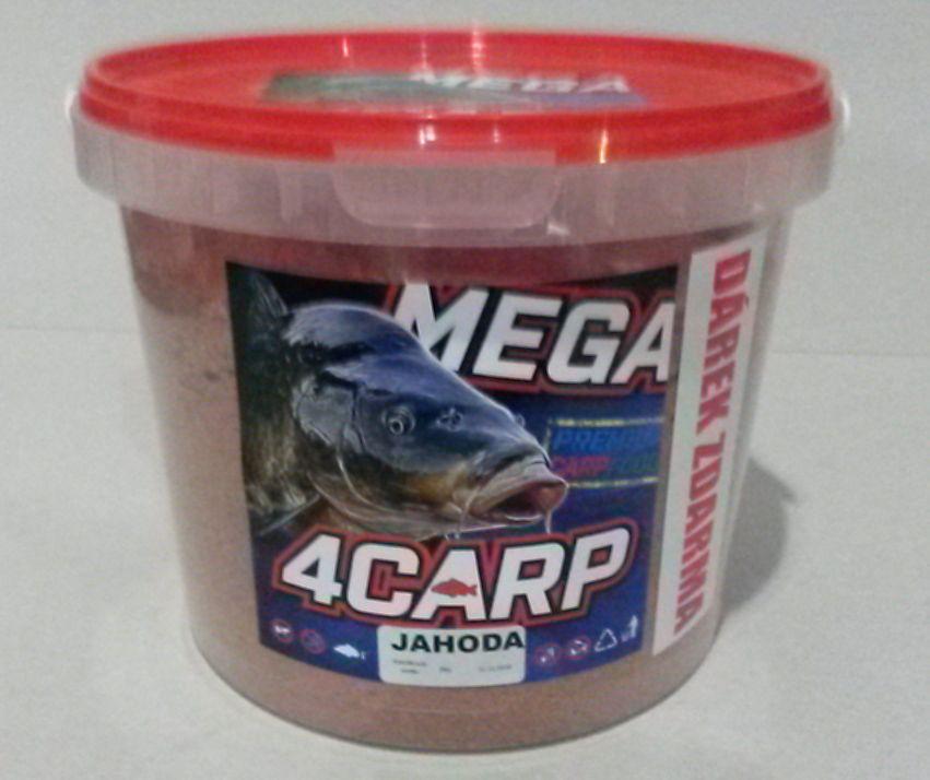 4carp Krmíková směs Kyblík jahoda 2kg