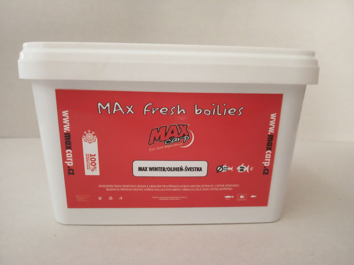 Maxcarp MAX WINTER-Oliheň,Šveska Boilies 800g 16+21mm
