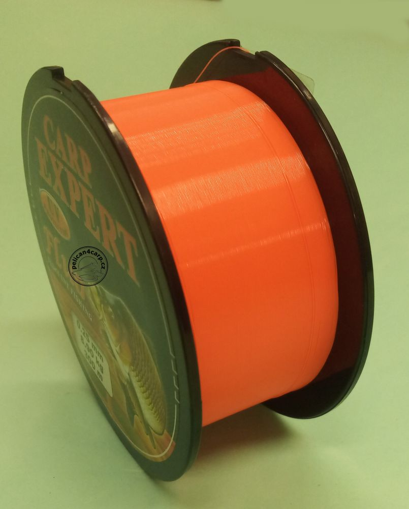 Carp expert vlasec fluoro oranžová 0,25-0,30 mm 300 m