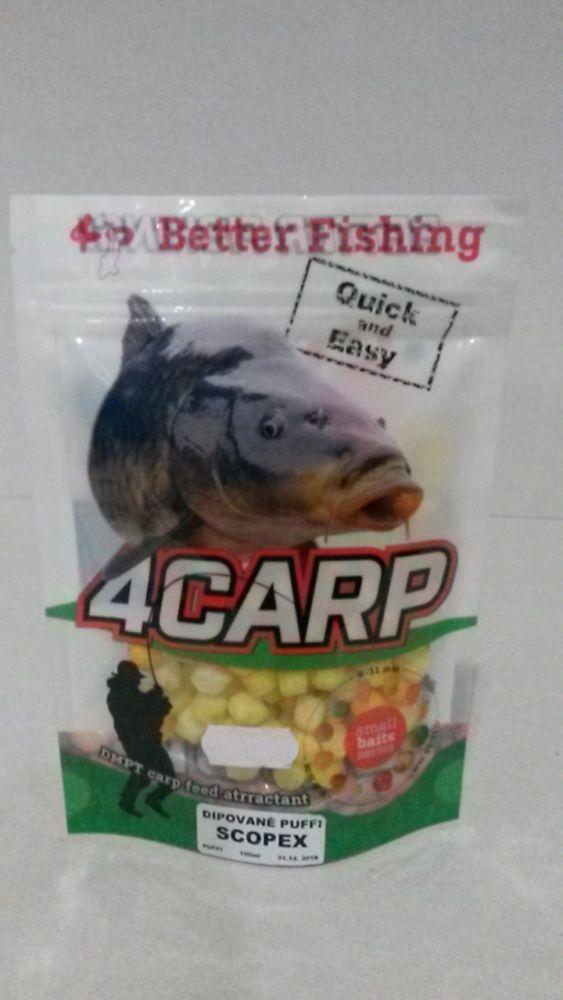 4Carp Dipované puffi 100ml Scopex