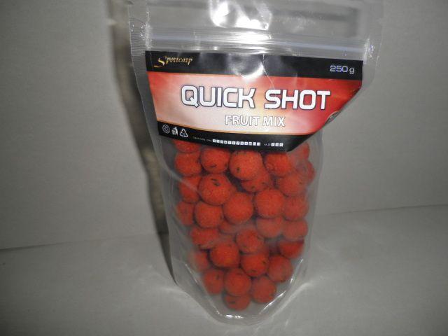 Sportcarp boilies QUICK Shot 250g 18mm Fruit Mix