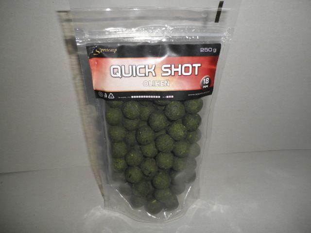 Sportcarp Boilies QUICK Shot 250g 18mm Oliheň