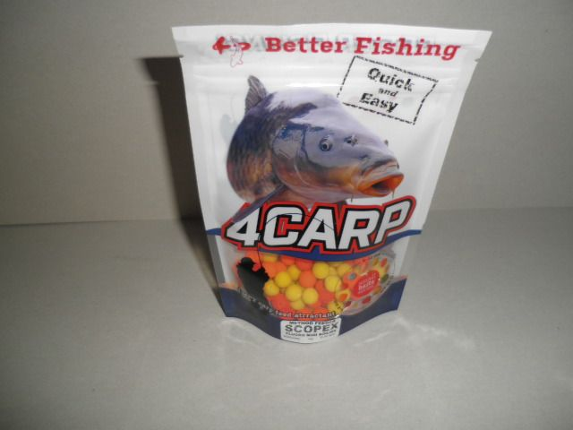 4Carp Method Feeder boilies Natur FLUORO Mini s dírkou - 8mm / 40g