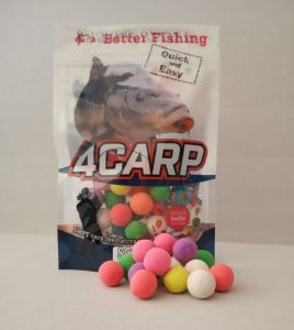 4CARP Fluoro pop up boilies 30g 15mm Česnek