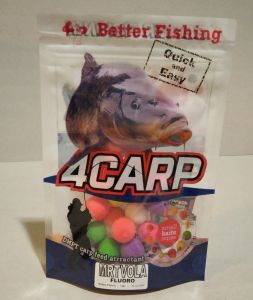 4Carp Fluoro pop up boilies 30g 15mm Crab