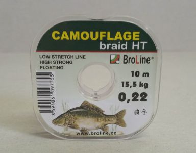 BroLine Camouflage braid HT 10m 0,16-0,22 mm