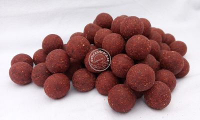 Maxcarp Fresh Boilies 3D RED SALMON - STRAWBERRY 24mm 1kg