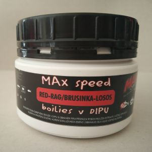 Maxcarp boilies v dipu Red Rag-Brusinka,Krill,Losos 21 mm 300ml